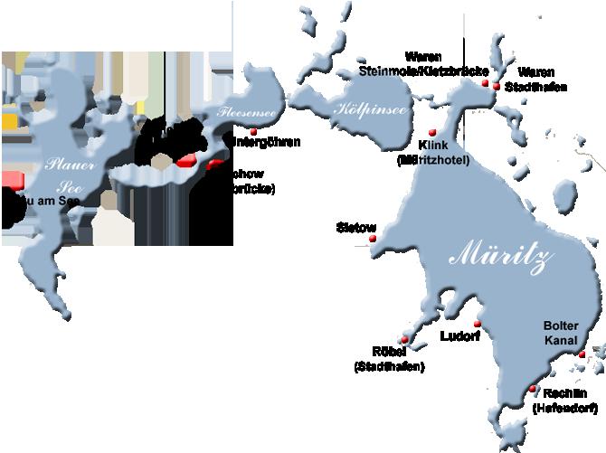 Karte Seen Mecklenburgische Seenplatte.Weisse Flotte Müritz Schiffsfahrten Auf Der Mecklenburgischen